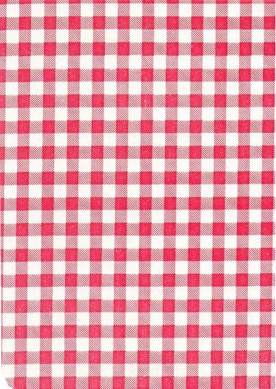 """Luxury Vinyl Oilcloth Roll 55"""" x 82ft. Red squares finish"""