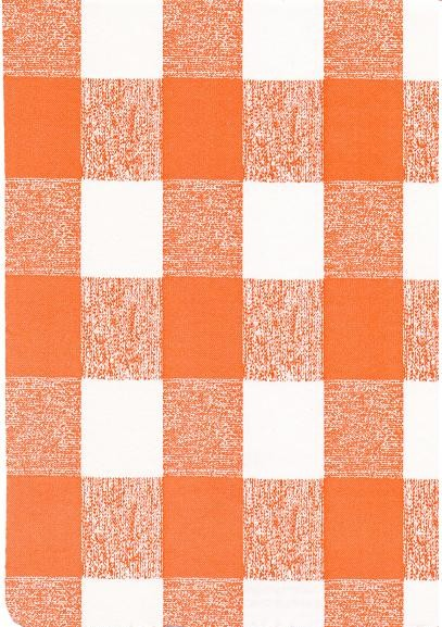 """Luxury Vinyl Oilcloth Roll 55"""" x 82ft. Lety black and orange squares finish"""