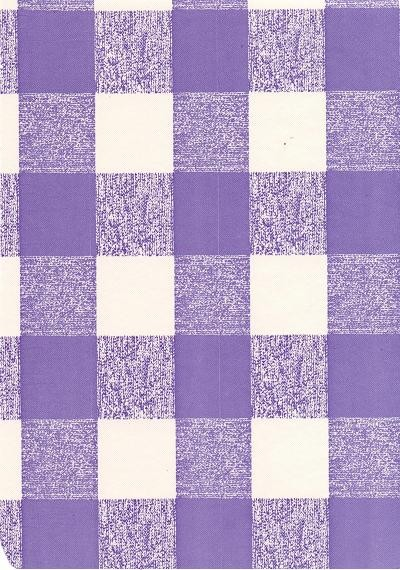 """Luxury Vinyl Oilcloth Roll 55"""" x 82ft. Lety black and violet squares finish"""