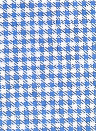 "Standard Vinyl Oilcloth Roll 47"" x 36 ft. Light blue squares finish"