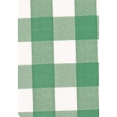 "Luxury Vinyl Oilcloth Roll 55"" x 82ft. Chessmate hunter green and white squares finish"