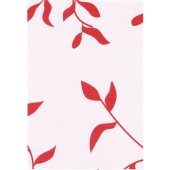 """Luxury Vinyl Oilcloth Roll 55"""" x 82ft. Ivy red finish"""