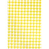 "Luxury Vinyl Oilcloth Roll 55"" x 82ft. Yellow squares finish"