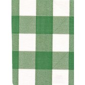 """Standard Vinyl Oilcloth Roll 47"""" x 36 ft. Chessmate hunter green and white squares finish"""