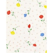 """Standard Vinyl Oilcloth Roll 47"""" x 36 ft. Diana red flowers finish"""