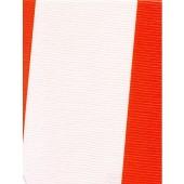"Standard Vinyl Oilcloth Roll 47"" x 36 ft. Orange strips finish"