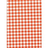 "Standard Vinyl Oilcloth Roll 47"" x 36 ft. Orange squares finish"