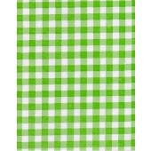 "Standard Vinyl Oilcloth Roll 47"" x 36 ft. Green lemon squares finish"