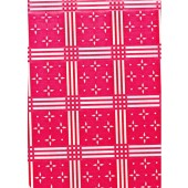 """Standard Vinyl Oilcloth Roll 47"""" x 36 ft. Stellar white stars with red squares finish"""