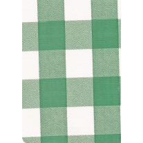 """Luxury Vinyl Oilcloth Roll 55"""" x 82ft. Chessmate hunter green and white squares finish, by Oilcloths.com"""