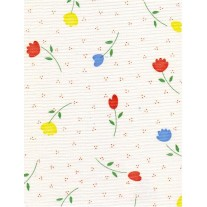 """Luxury Vinyl Oilcloth Roll 55"""" x 82ft. Diana red flowers finish"""