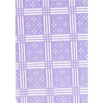 """Luxury Vinyl Oilcloth Roll 55"""" x 82ft. Stellar white stars with violet squares finish"""