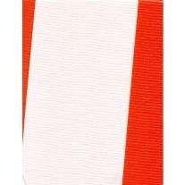 "Standard Vinyl Oilcloth Roll 47"" x 36 ft. Orange strips finish, by Oilcloths.com"