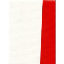 """Standard Vinyl Oilcloth Roll 47"""" x 36 ft. Red strips finish, by Oilcloths.com"""