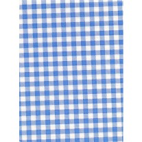 """Standard Vinyl Oilcloth Roll 47"""" x 36 ft. Light blue squares finish, by Oilcloths.com"""